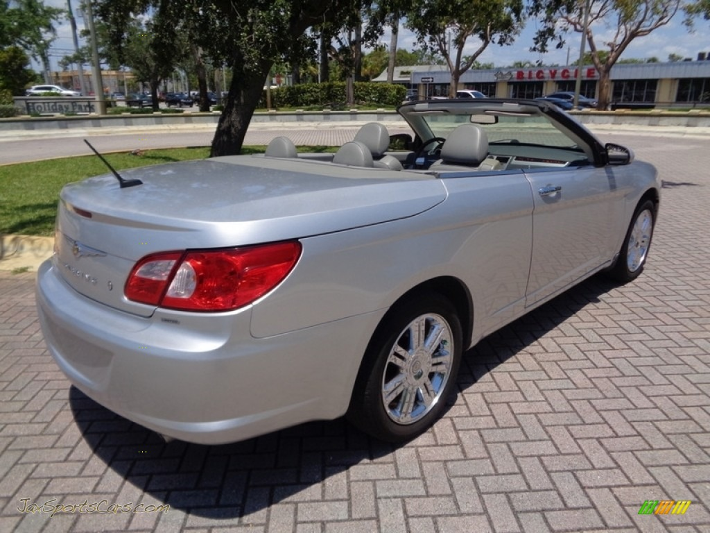 2008 Sebring Limited Convertible - Bright Silver Metallic / Dark Slate Gray/Light Slate Gray photo #1