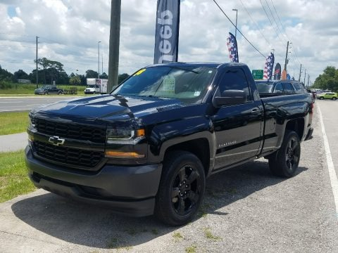 Black 2018 Chevrolet Silverado 1500 WT Regular Cab
