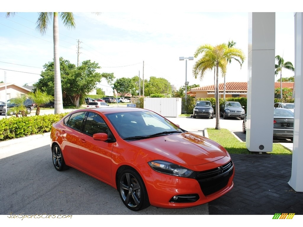 2015 Dart GT - Vitamin C / Black/Ruby Red Accent Stitching photo #1