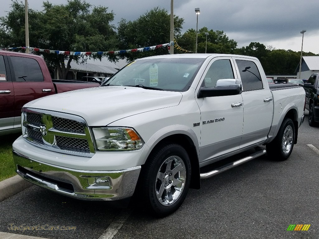 2012 Ram 1500 Laramie Crew Cab 4x4 - Bright White / Light Pebble Beige/Bark Brown photo #1