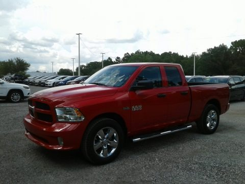 Flame Red 2018 Ram 1500 Express Quad Cab
