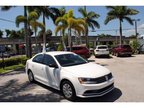 Pure White 2016 Volkswagen Jetta S