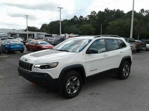 Pearl White 2019 Jeep Cherokee Trailhawk Elite 4x4