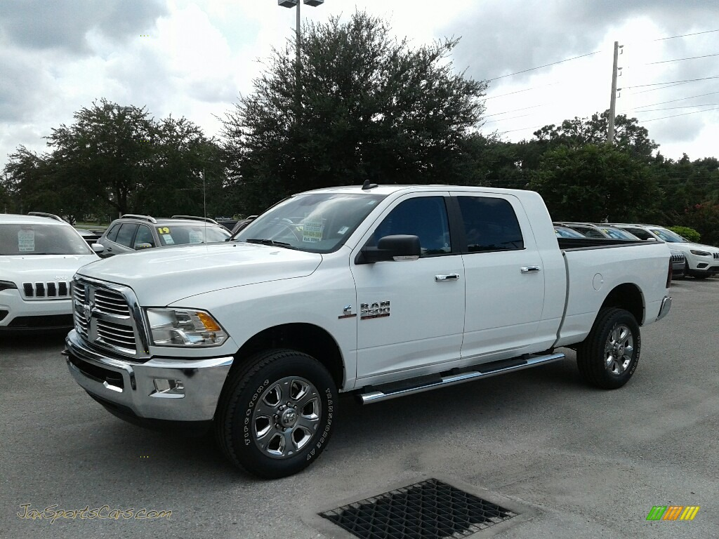 Bright White / Black/Diesel Gray Ram 2500 Big Horn Mega Cab 4x4
