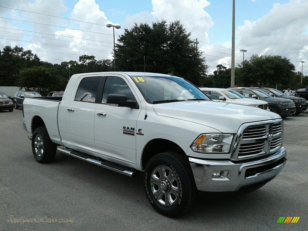 2018 2500 Big Horn Mega Cab 4x4 - Bright White / Black/Diesel Gray photo #7
