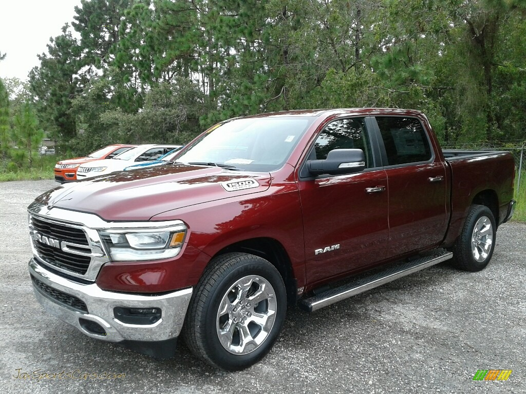 2019 1500 Big Horn Crew Cab - Delmonico Red Pearl / Black/Diesel Gray photo #1