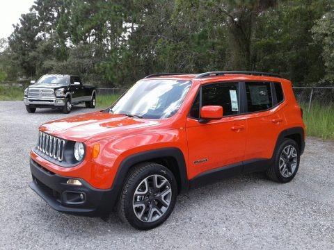 Omaha Orange 2018 Jeep Renegade Latitude