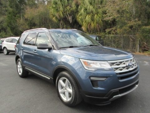 Blue Metallic 2018 Ford Explorer XLT
