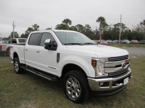 Oxford White 2018 Ford F250 Super Duty Lariat Crew Cab 4x4