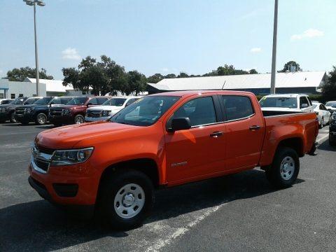 Crush (Orange) 2019 Chevrolet Colorado WT Crew Cab