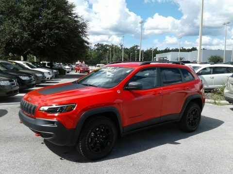 Firecracker Red 2019 Jeep Cherokee Trailhawk Elite 4x4