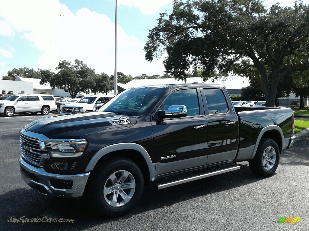 2019 1500 Laramie Quad Cab 4x4 - Rugged Brown Pearl / Mountain Brown/Light Frost Beige photo #1