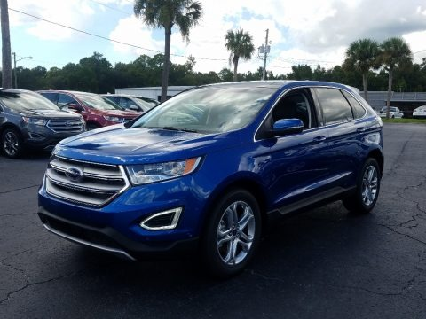 Blue 2018 Ford Edge Titanium