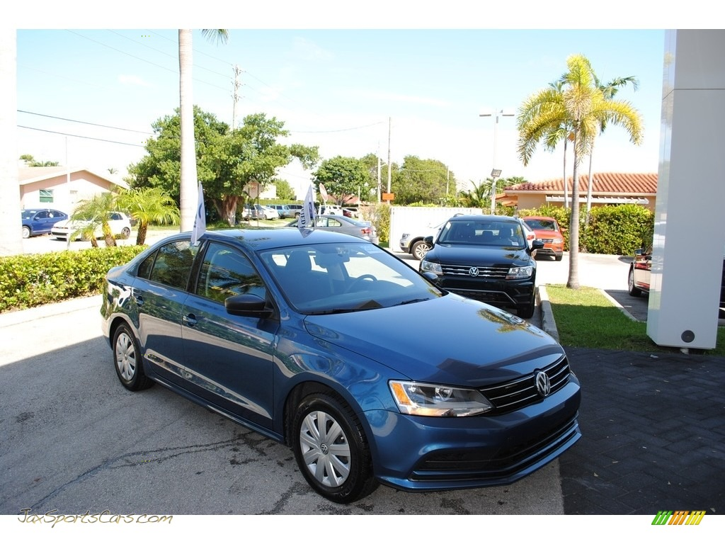 2016 Jetta S - Silk Blue Metallic / Titan Black photo #1