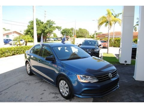 Silk Blue Metallic 2016 Volkswagen Jetta S