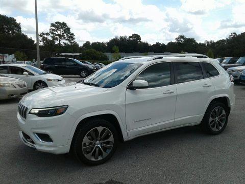 Pearl White 2019 Jeep Cherokee Overland