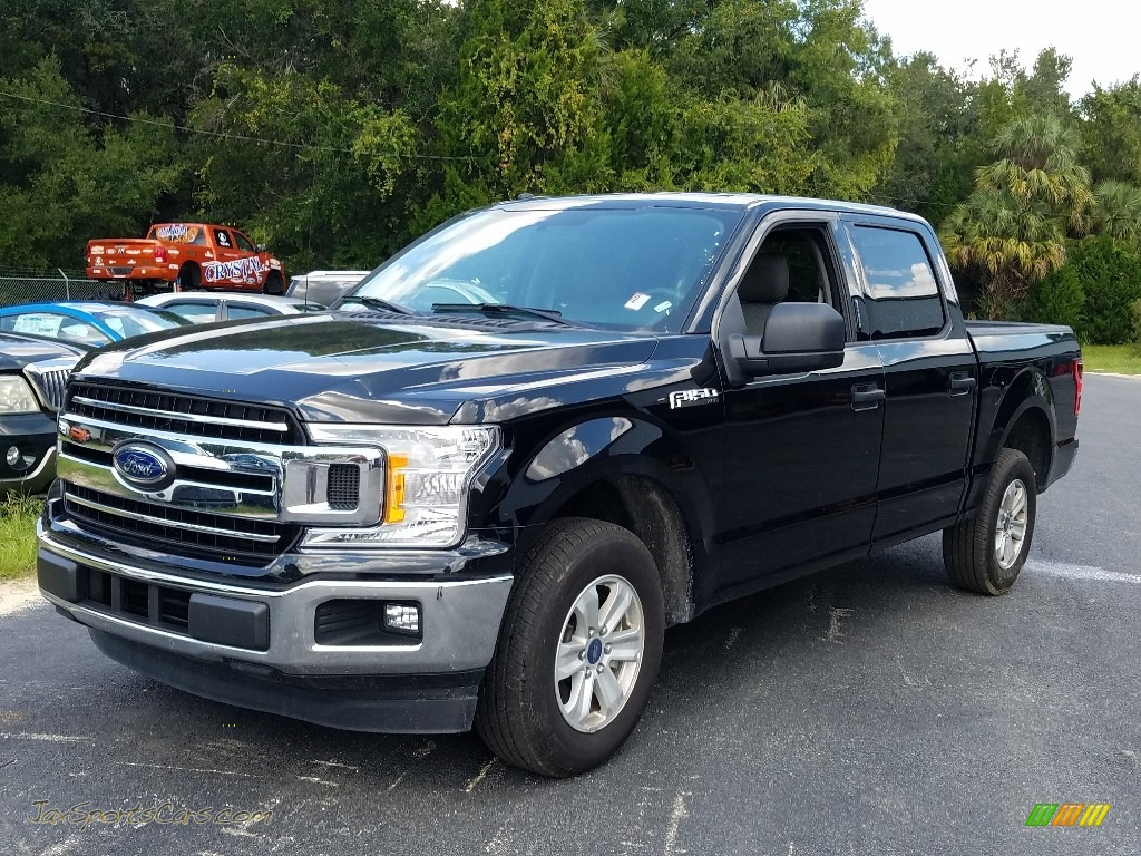 2018 F150 XLT SuperCrew - Shadow Black / Earth Gray photo #1