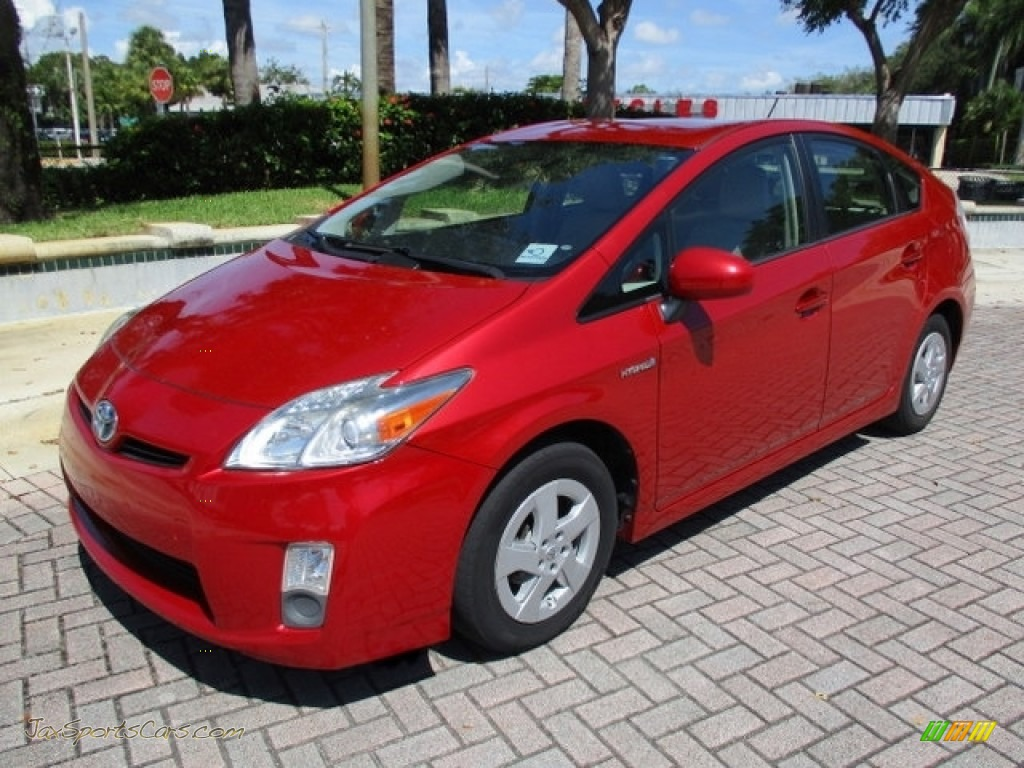 2010 Prius Hybrid IV - Barcelona Red Metallic / Bisque photo #1