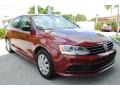 Volkswagen Jetta S Cardinal Red Metallic photo #2