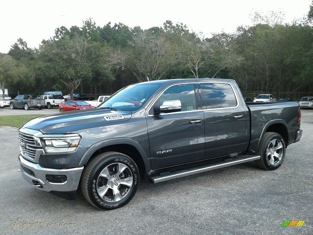 Granite Crystal Metallic / Black Ram 1500 Laramie Crew Cab