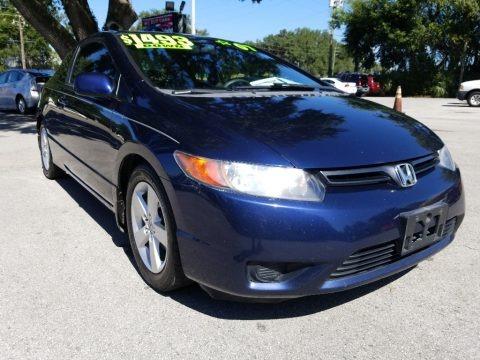 Atomic Blue Metallic 2007 Honda Civic EX Coupe