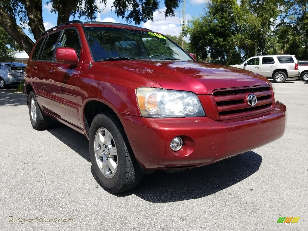 2006 Highlander V6 - Salsa Red Pearl / Ash Gray photo #1