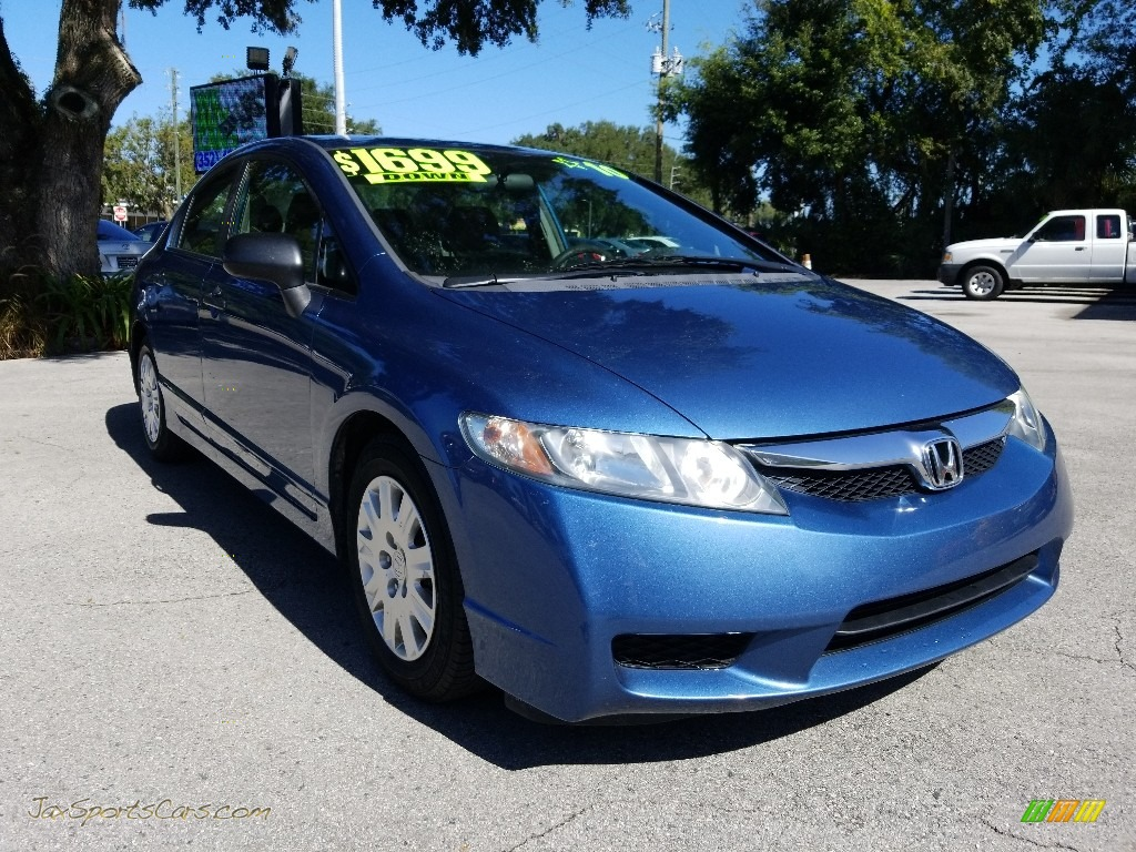 2010 Civic DX-VP Sedan - Atomic Blue Metallic / Gray photo #1
