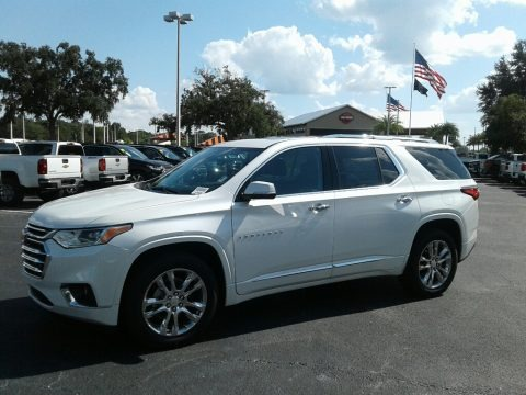 Pearl White 2019 Chevrolet Traverse High Country AWD