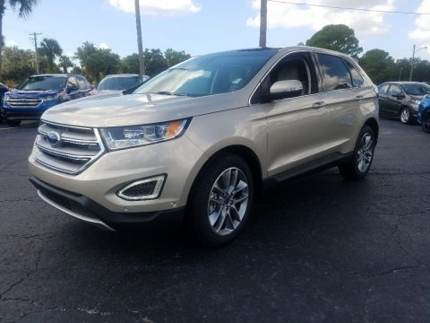 White Gold 2018 Ford Edge Titanium