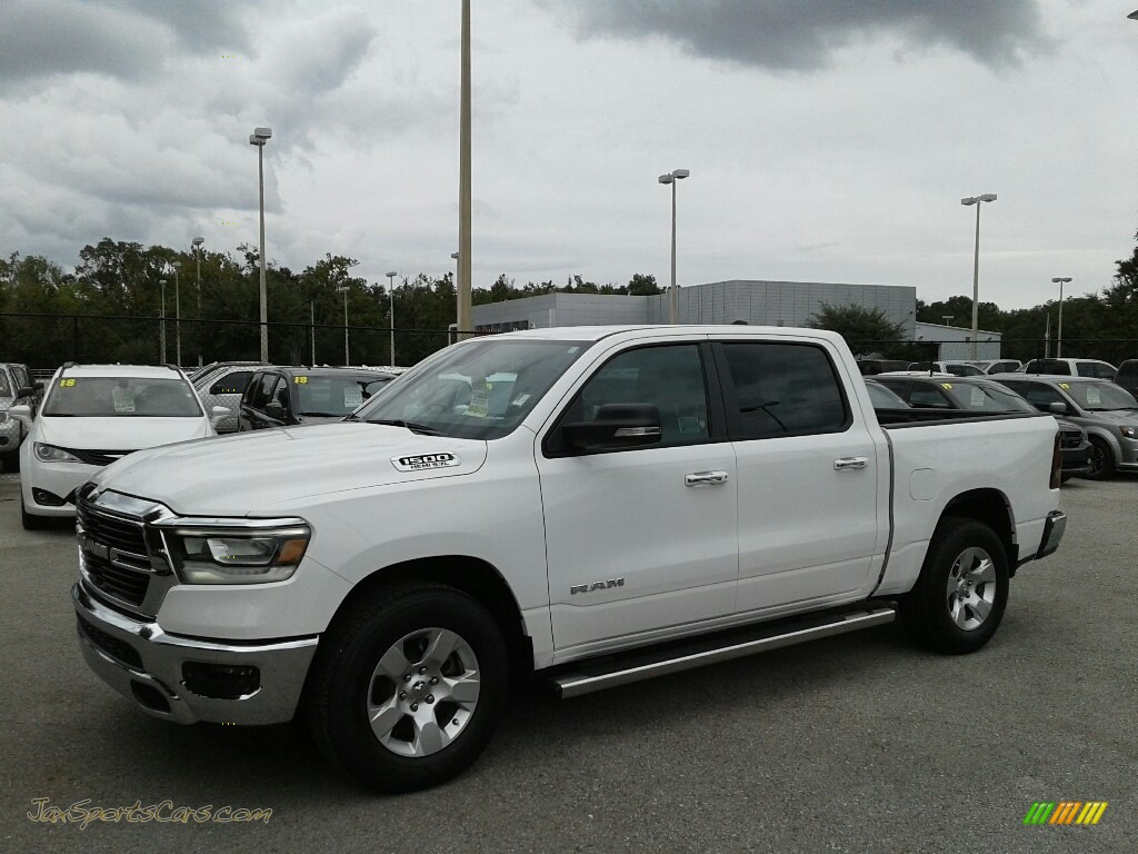 2019 1500 Big Horn Crew Cab - Bright White / Black photo #1