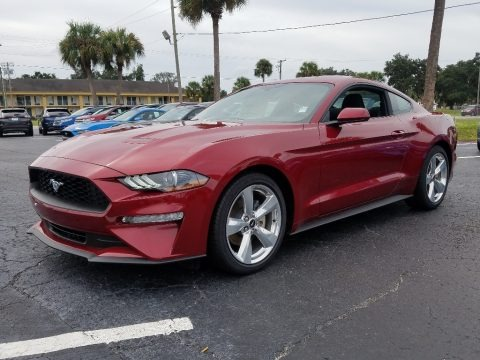 Ruby Red 2018 Ford Mustang EcoBoost Fastback