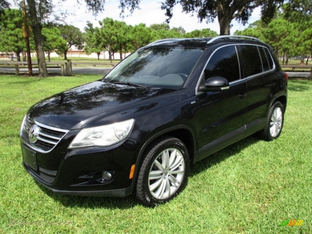 2010 Tiguan Wolfsburg Edition - Deep Black Metallic / Charcoal photo #1