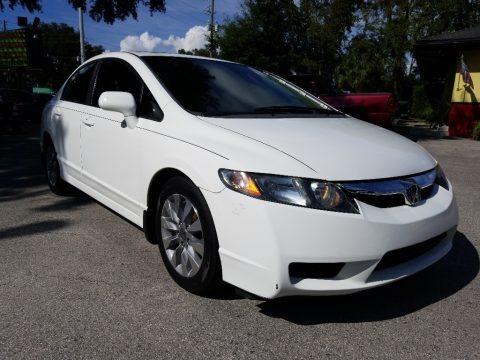 Taffeta White 2009 Honda Civic EX Sedan
