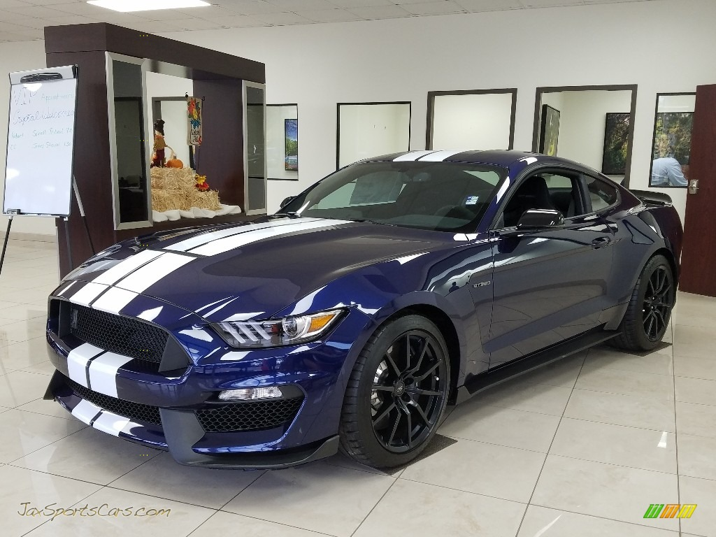2018 Mustang Shelby GT350 - Kona Blue / GT350 Ebony Recaro Cloth/Miko Suede photo #1