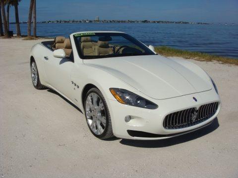 Bianco Eldorado (White) 2014 Maserati GranTurismo Convertible GranCabrio