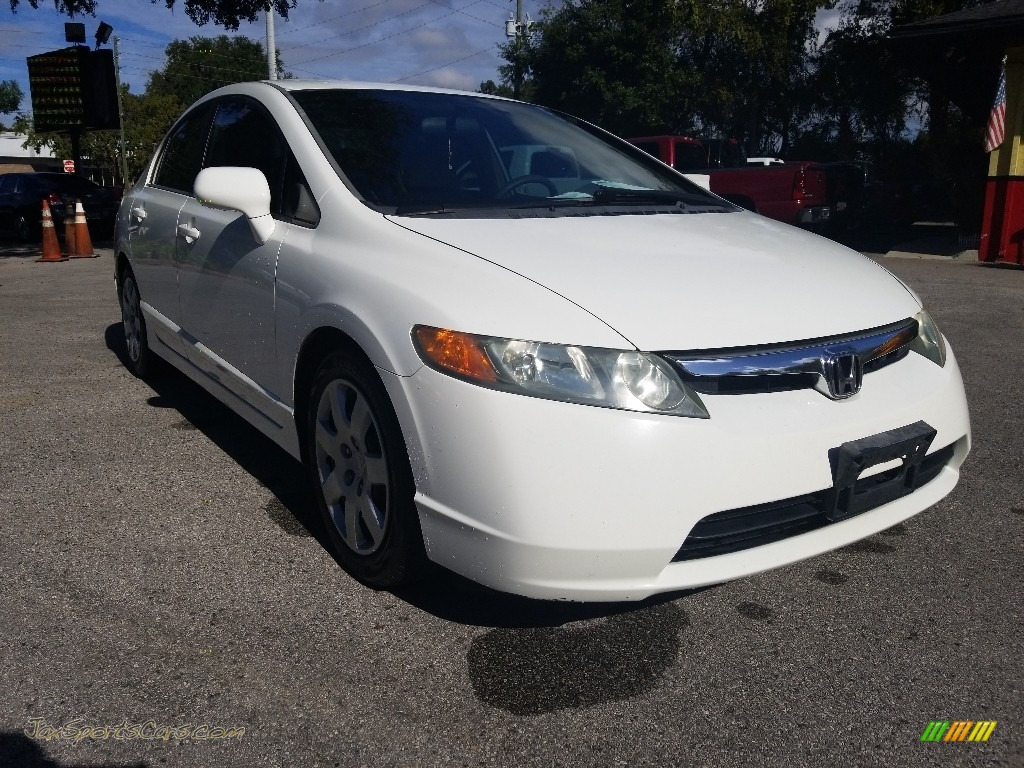 Taffeta White / Gray Honda Civic LX Sedan