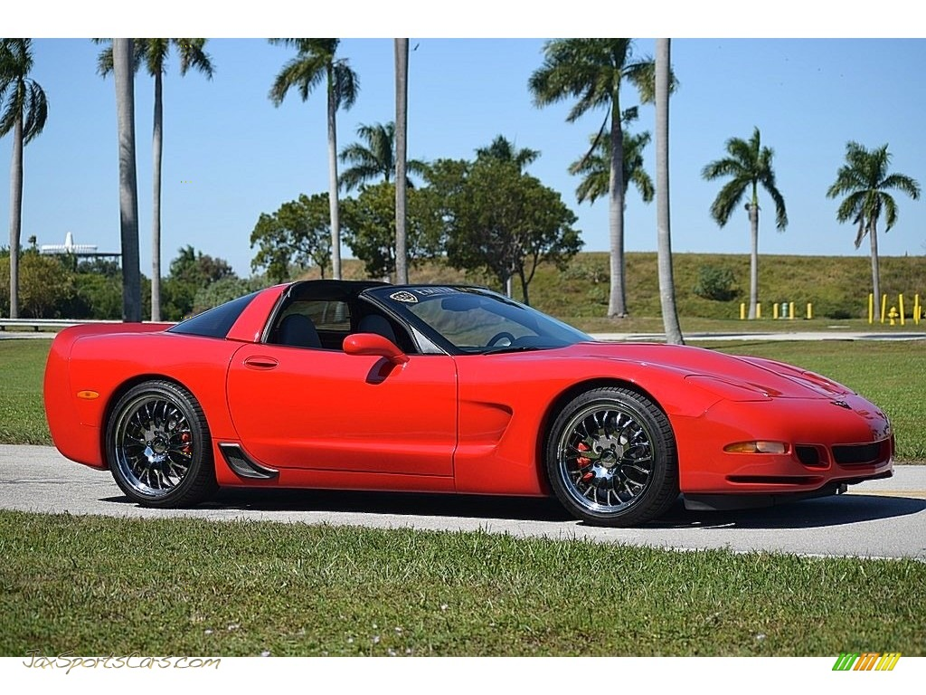 2001 Corvette Coupe - Torch Red / Light Gray photo #1
