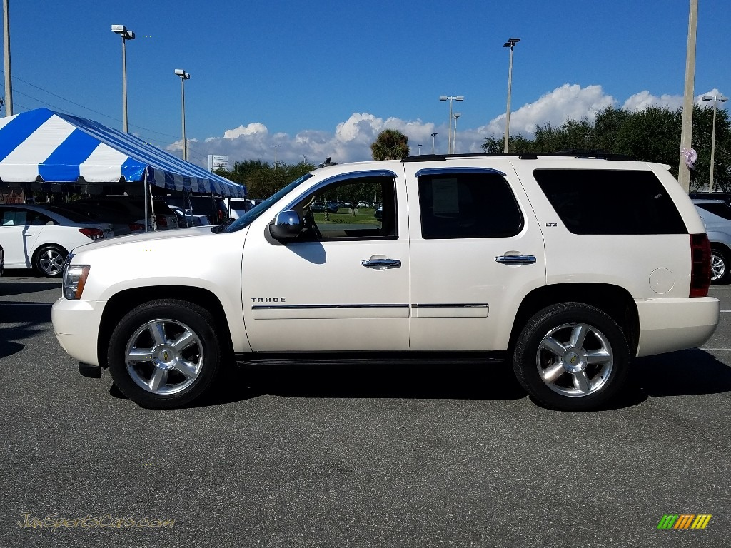 2011 Tahoe LTZ - White Diamond Tricoat / Light Cashmere/Dark Cashmere photo #1