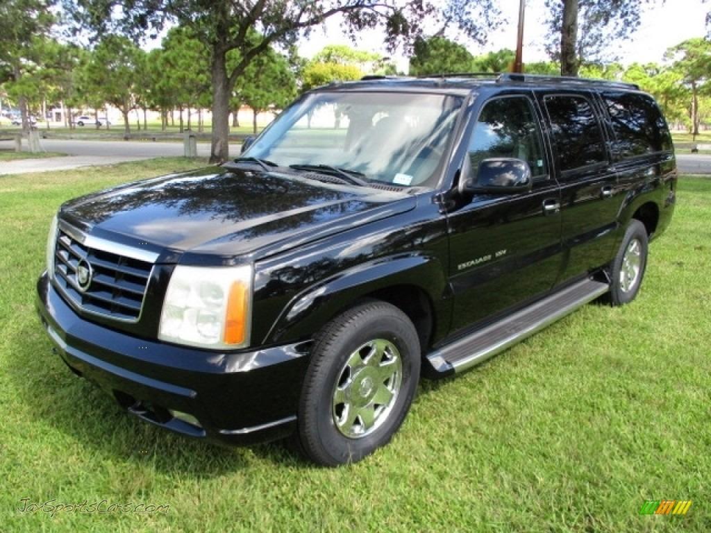 2003 Escalade ESV AWD - Sable Black / Pewter photo #1