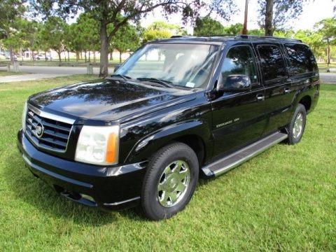 Sable Black 2003 Cadillac Escalade ESV AWD