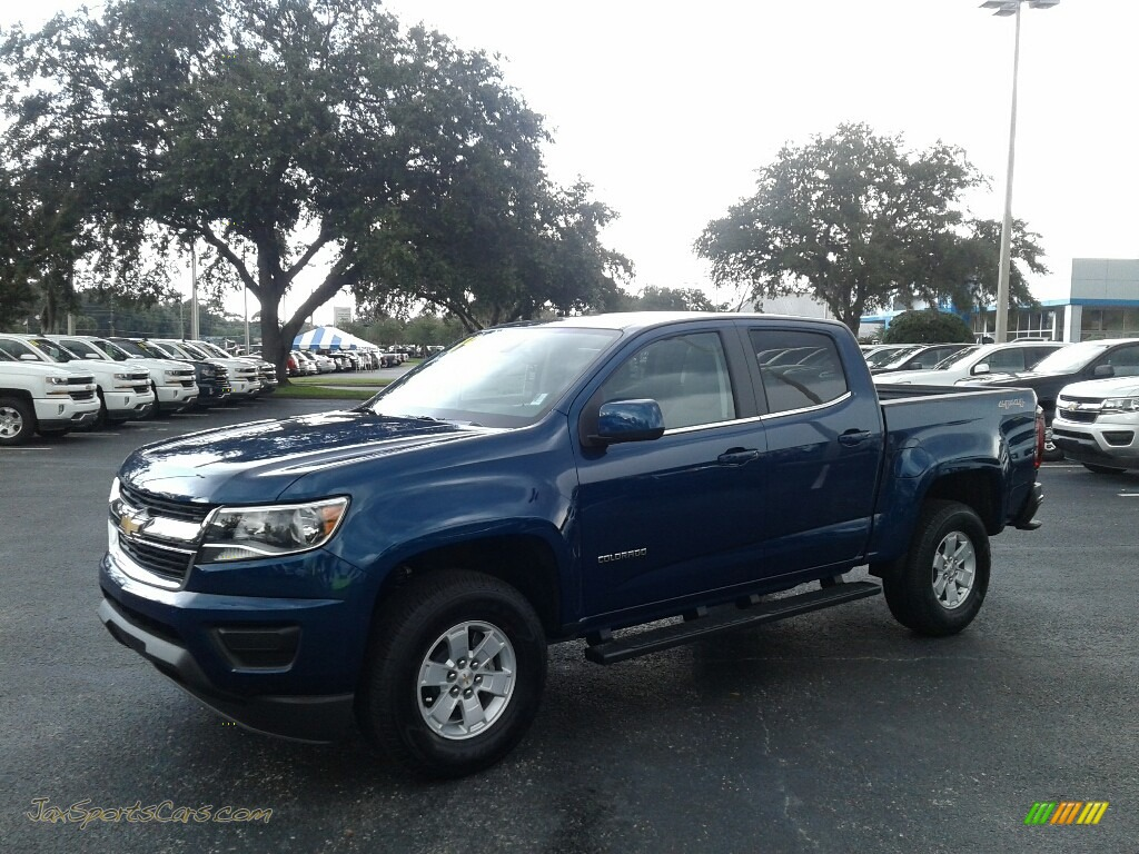 Pacific Blue Metallic / Jet Black/Dark Ash Chevrolet Colorado WT Crew Cab 4x4