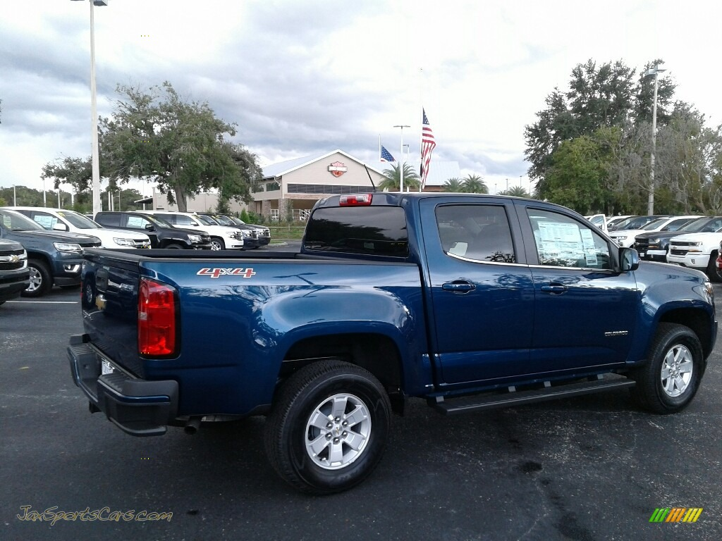 2019 Colorado WT Crew Cab 4x4 - Pacific Blue Metallic / Jet Black/Dark Ash photo #5
