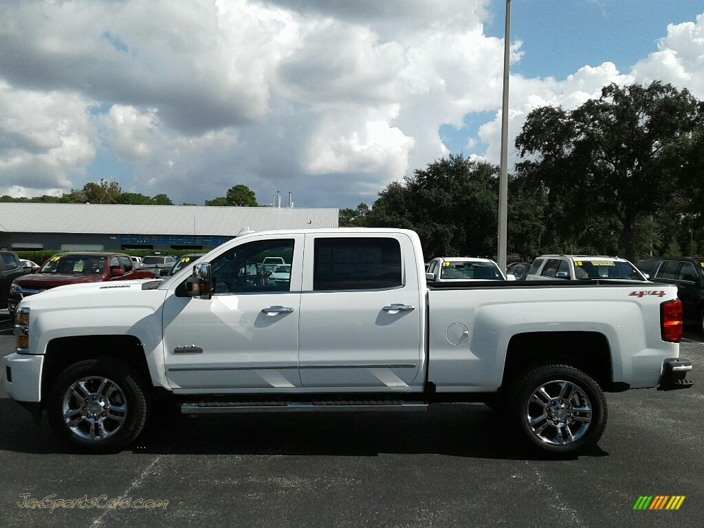 2019 Silverado 2500HD High Country Crew Cab 4WD - Summit White / High Country Saddle photo #2