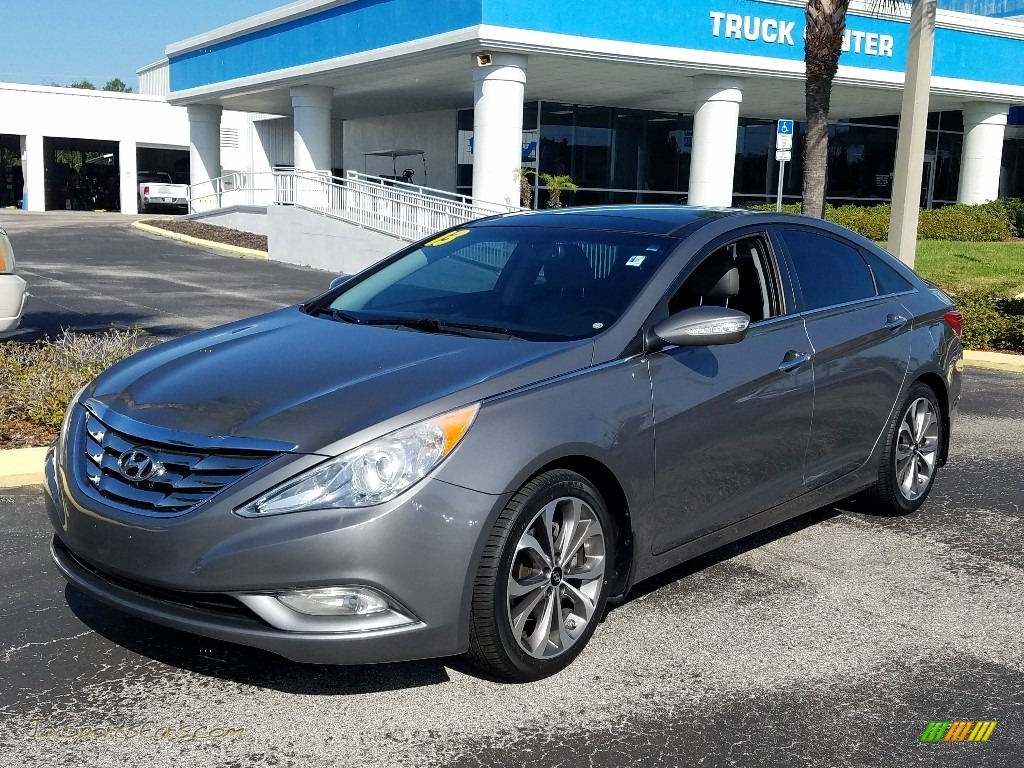 2013 Sonata Limited 2.0T - Harbor Gray Metallic / Gray photo #1