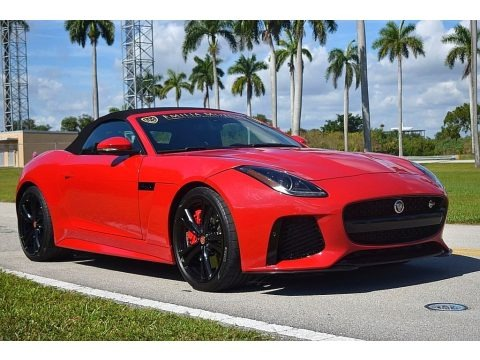 Caldera Red 2017 Jaguar F-TYPE Convertible