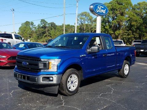 Lightning Blue 2018 Ford F150 XL SuperCab