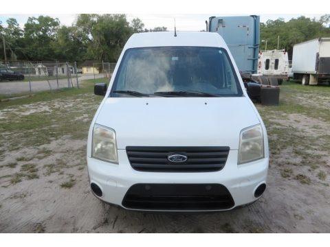 Frozen White 2012 Ford Transit Connect XLT Van