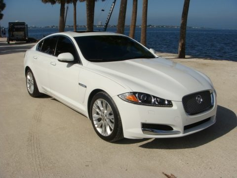 Polaris White 2013 Jaguar XF 3.0