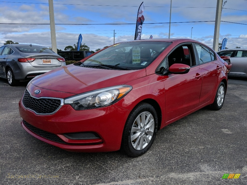 2014 Forte LX - Crimson Red / Black photo #1