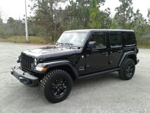 Black 2018 Jeep Wrangler Unlimited Sahara 4x4